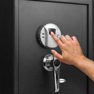 large biometric gun safe