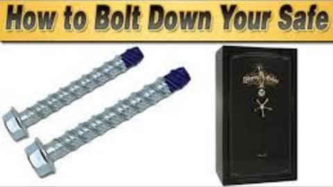 How To Bolt A Gun Safe The Floor In