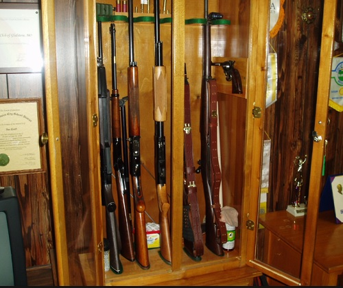 wooden gun cabinet